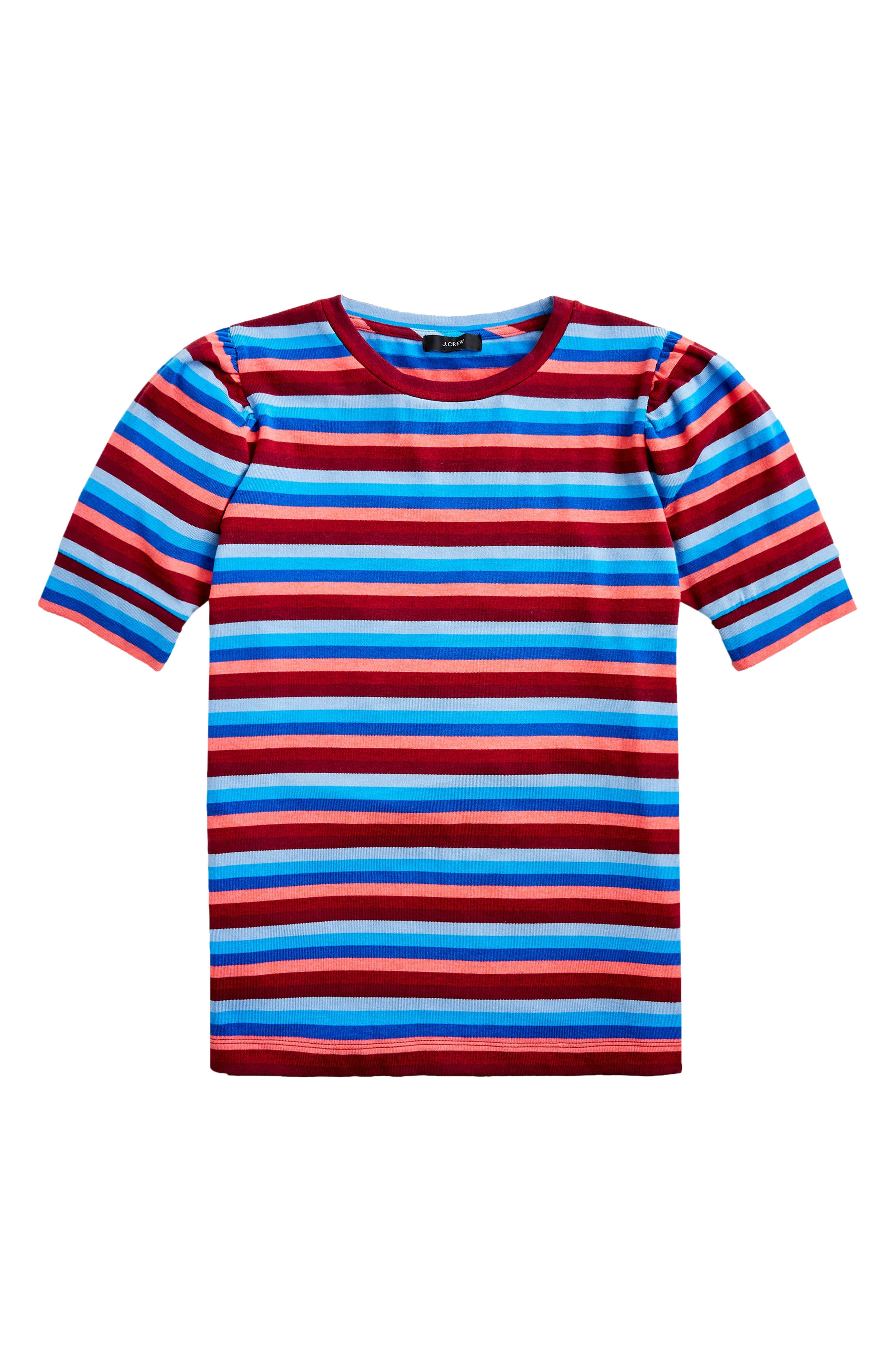 J.Crew Super Cozy Puff Sleeve Stripe Top (Regular & Plus Size) | Nordstrom