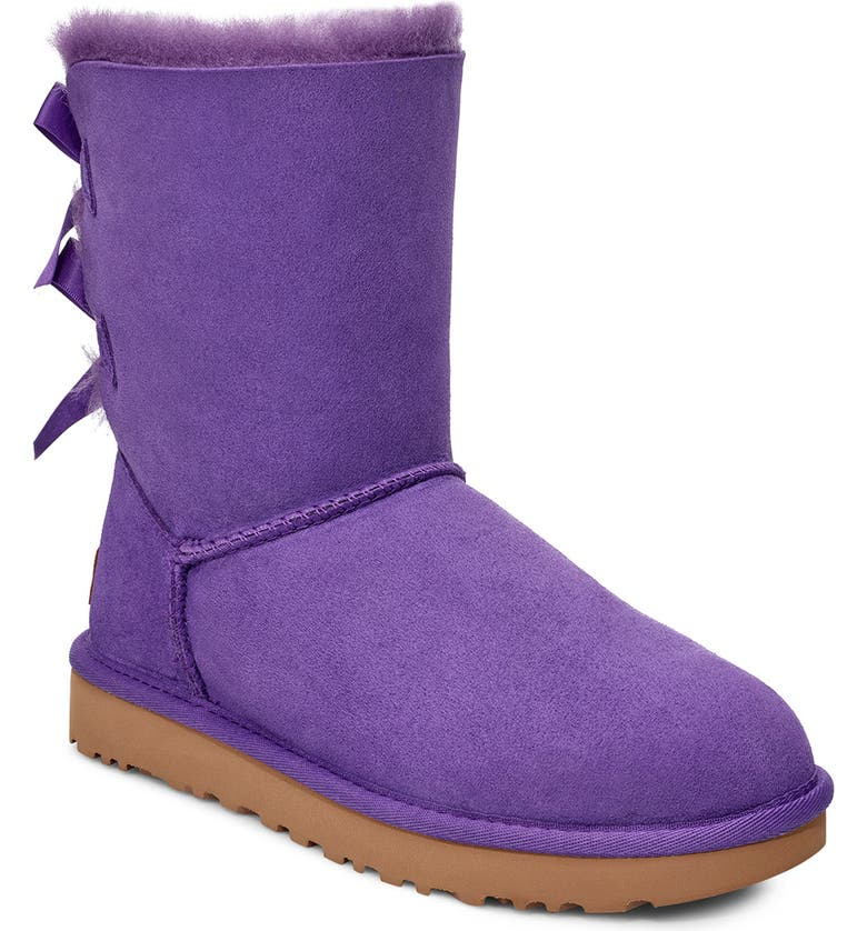 UGG<SUP>®</SUP> Bailey Bow II Genuine Shearling Boot, Main, color, VIOLET BLOOM