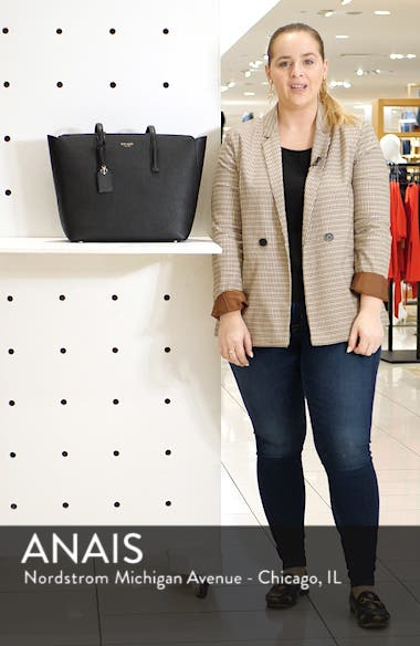 large margaux leather tote, sales video thumbnail