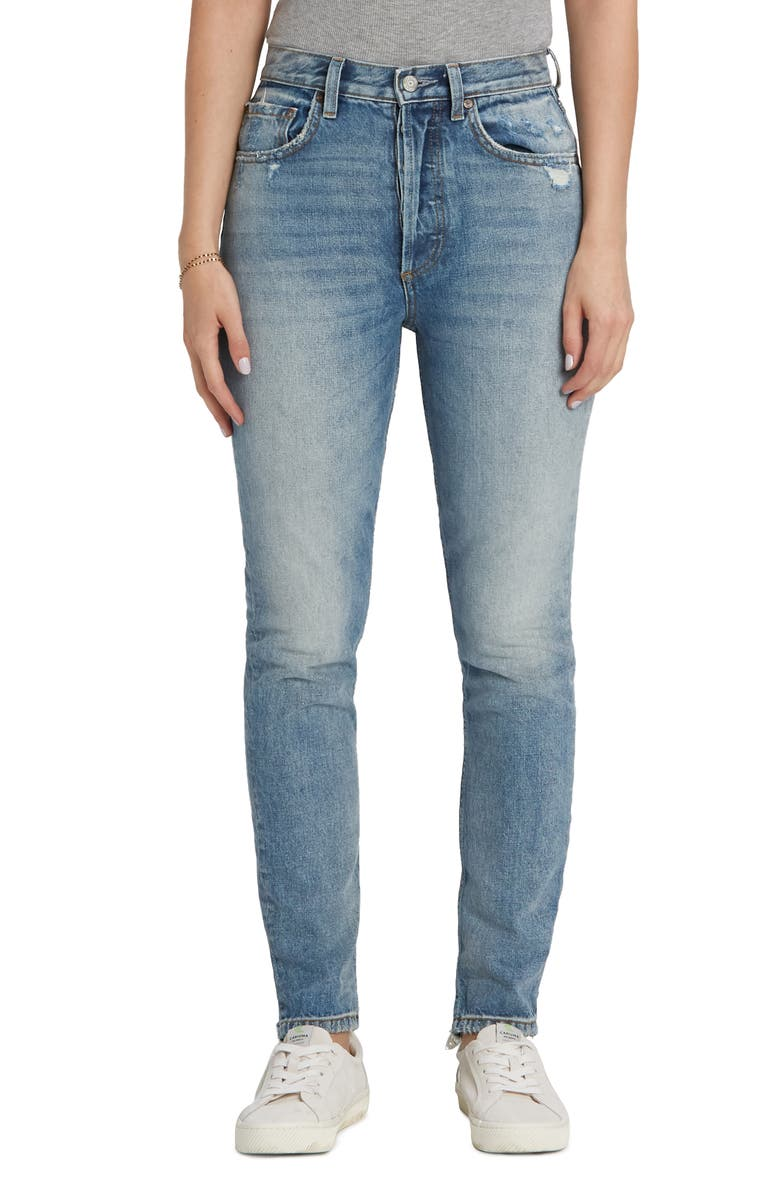 BOYISH JEANS The Billy High Waist Distressed Nonstretch Jeans, Main, color, PARADISE