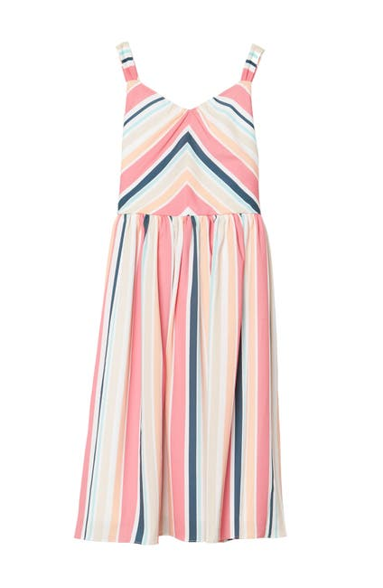 Image of Pastourelle by Pippa and Julie Mightered Striped Tank Dress
