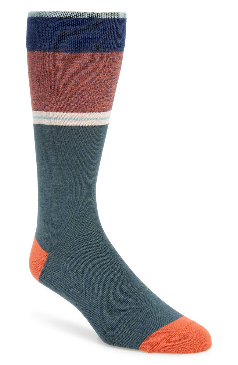 TED BAKER LONDON Pattern Socks, Main, color, BEIGE