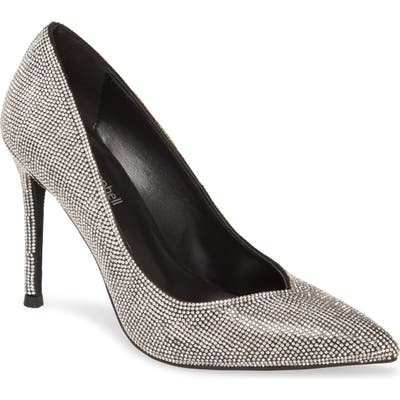 Jeffrey Campbell Lure-Js Crystal Embellished Pointed Toe Pump- Metallic