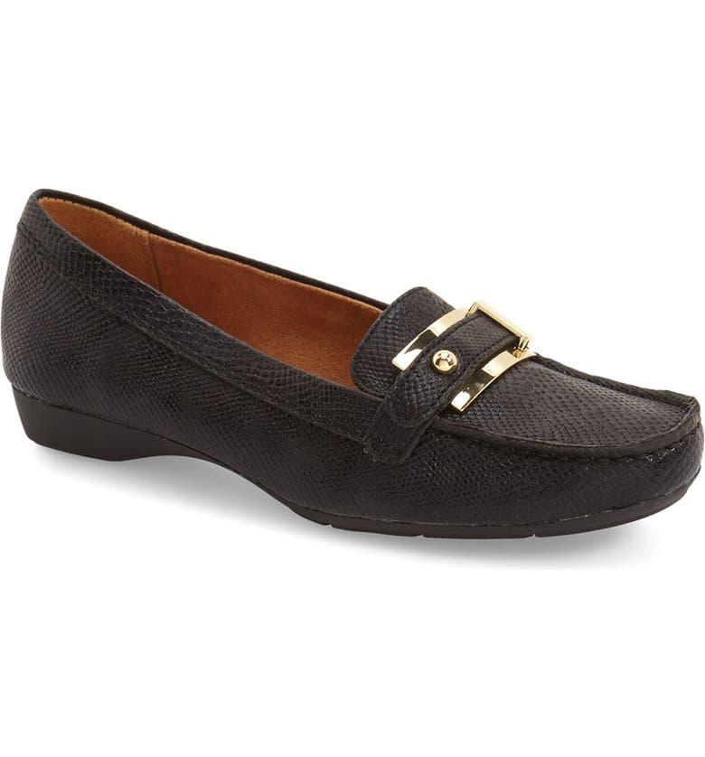 NATURALIZER 'Gisella' Loafer, Main, color, BLACK PRINTED LIZARD