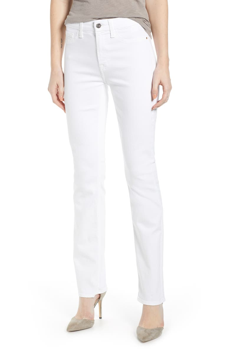 JEN7 BY 7 FOR ALL MANKIND Faux Pocket Slim Straight Leg Jeans, Main, color, WHITE
