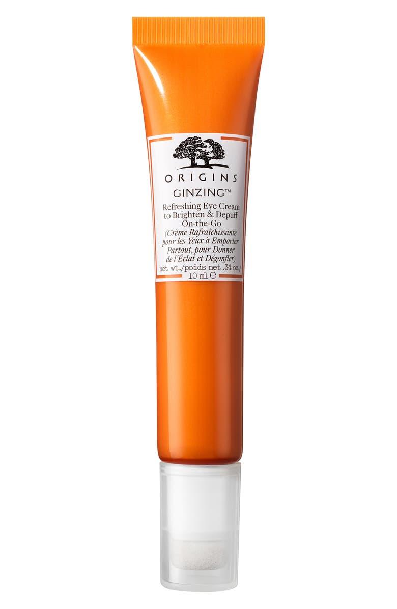 ORIGINS Travel Size GinZing<sup>™</sup> Refreshing Eye Cream to Brighten & Depuff, Main, color, NO COLOR