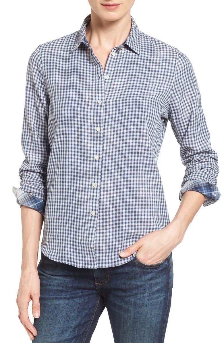 BARBOUR 'Bower' Gingham Cotton Shirt, Main, color, 410