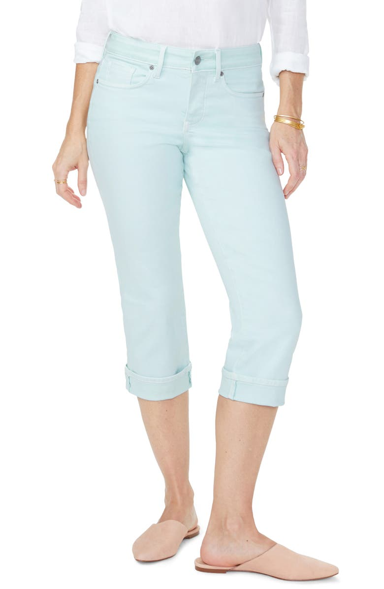 NYDJ Marilyn Straight Leg Capri Jeans, Main, color, DESERT DEW