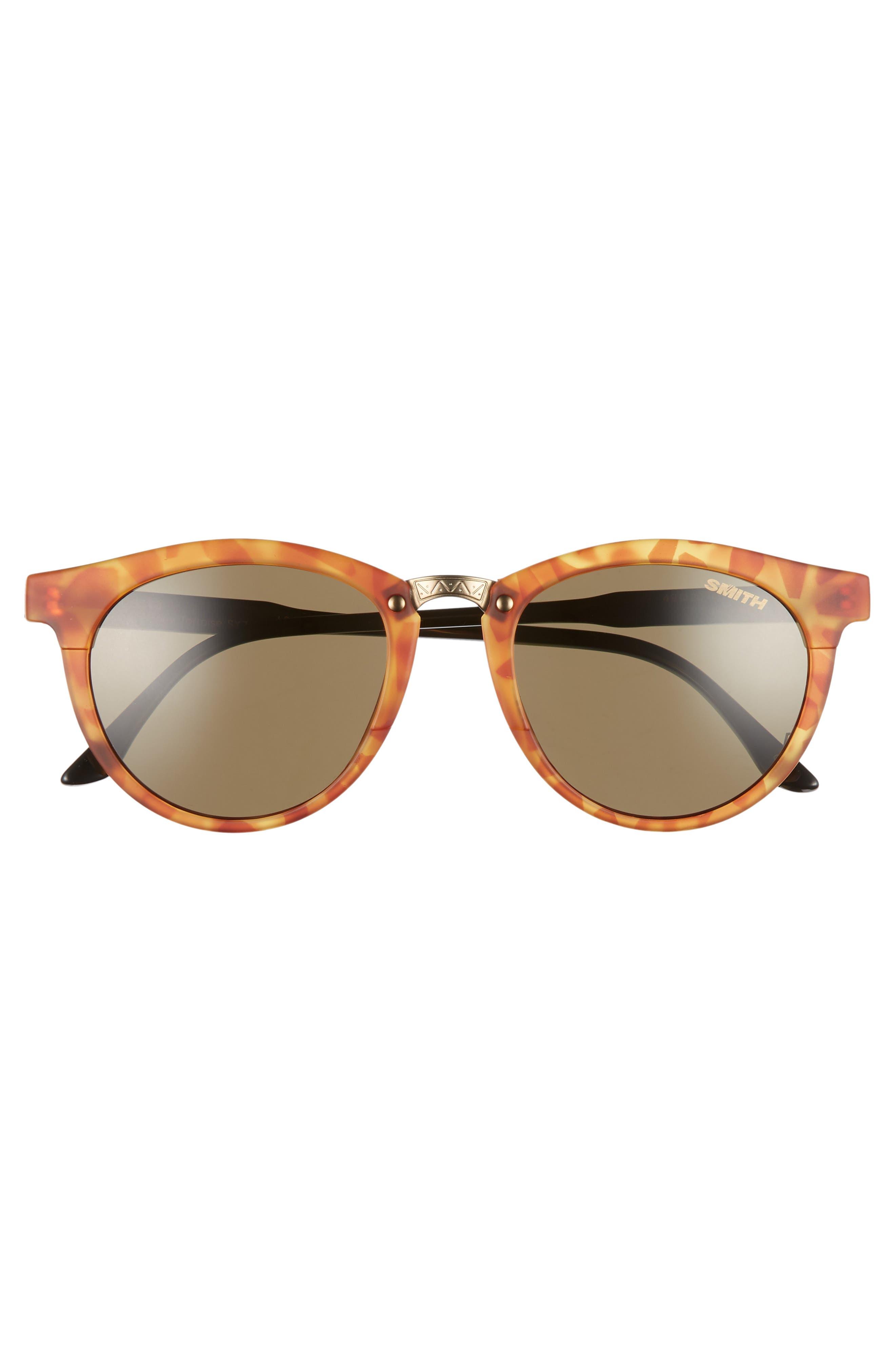 ,                             Questa 49mm ChromaPop Polarized Sunglasses,                             Alternate thumbnail 3, color,                             HONEY TORTOISE/ GREY GREEN