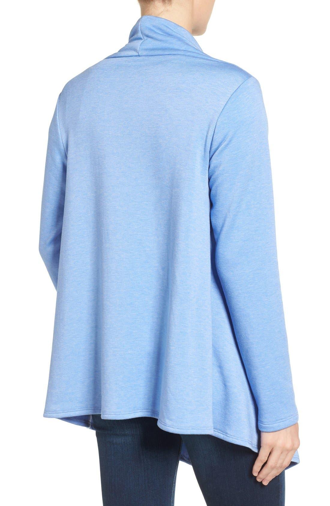 ,                             One-Button Fleece Wrap Cardigan,                             Alternate thumbnail 158, color,                             474