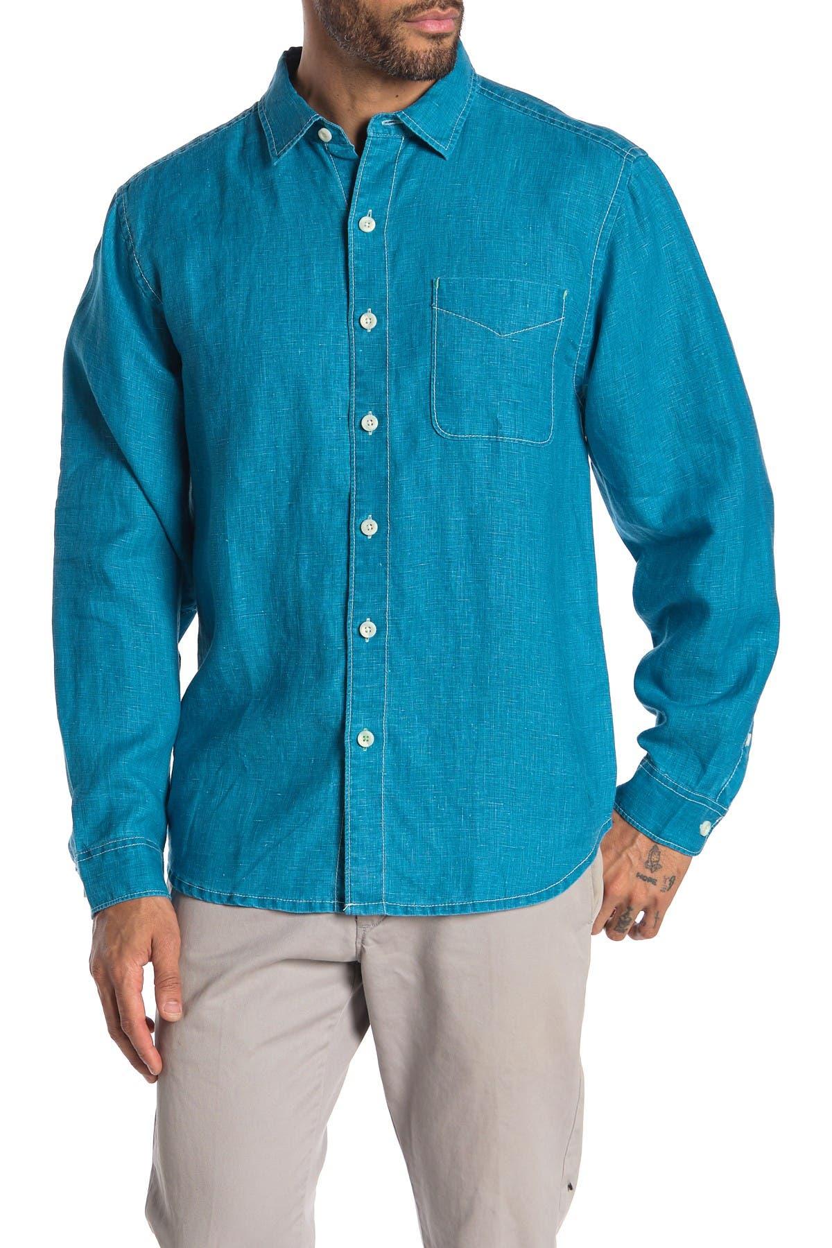 Image of Tommy Bahama Sea Glass Breezer Original Fit Linen Shirt