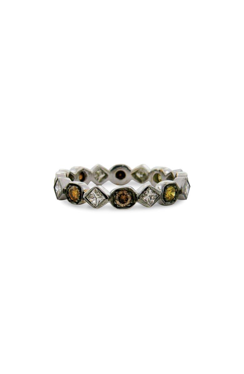 SETHI COUTURE Diamond Art Deco Ring, Main, color, BLACK RHODIUM/ MULTI COLOR