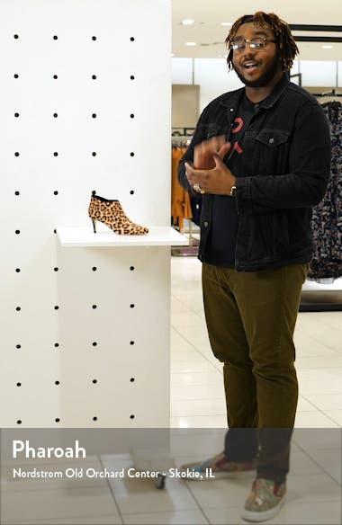 'Yelm' Almond Toe Genuine Calf Hair Bootie, sales video thumbnail