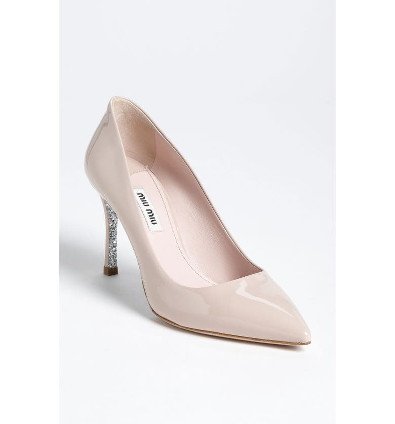 MIU MIU Glitter Sole Pointy Toe Pump, Main, color, 270