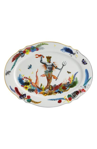 Christian Lacroix Caribe Medium Oval Platter In White
