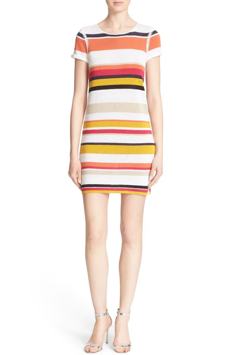ALICE + OLIVIA 'Rozlyn' Stripe Knit Dress, Main, color, 615