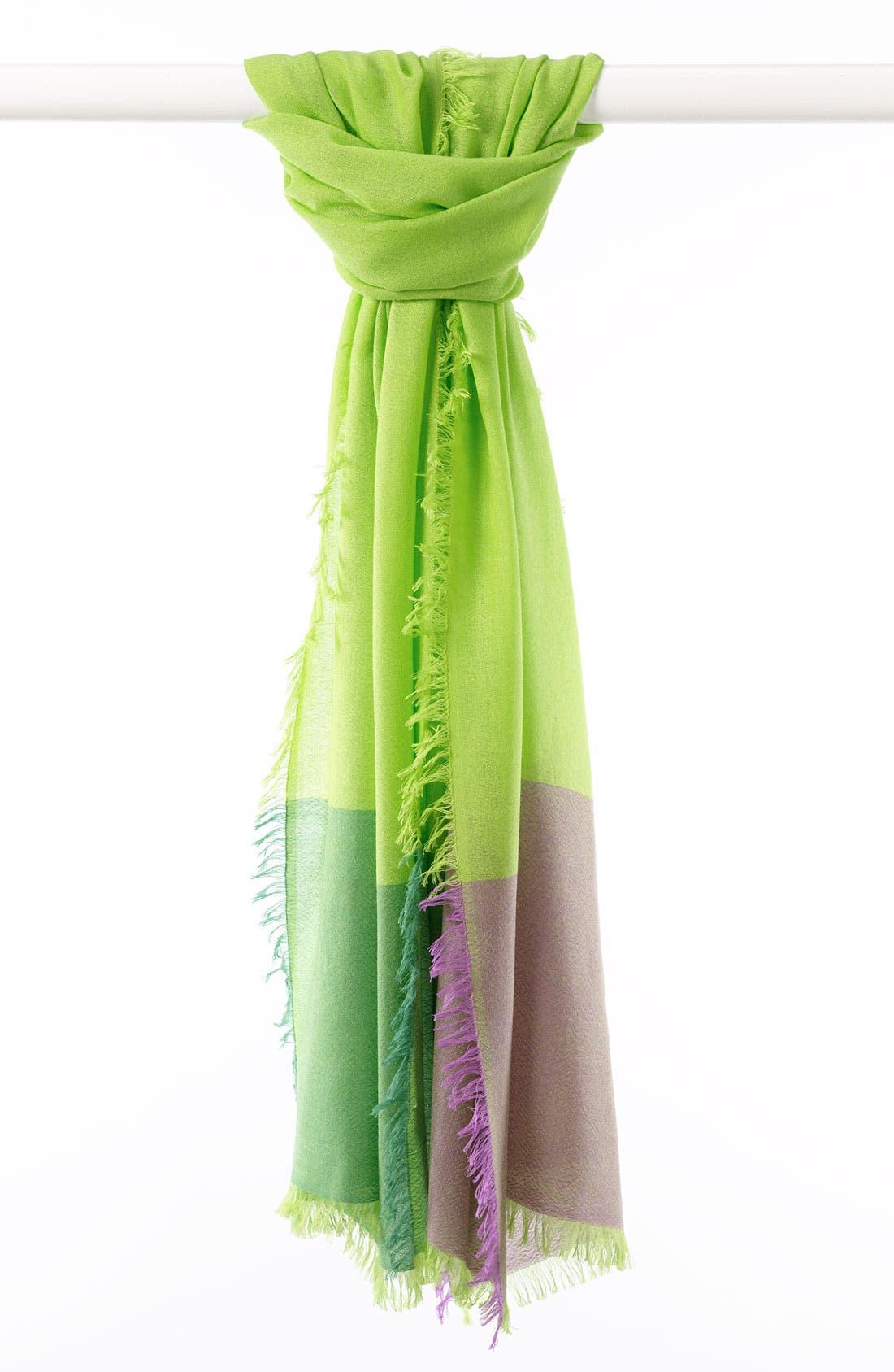 ,                             'Eyelash' Colorblock Cashmere Wrap,                             Main thumbnail 34, color,                             391