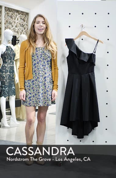 One-Shoulder High/Low Cocktail Dress, sales video thumbnail