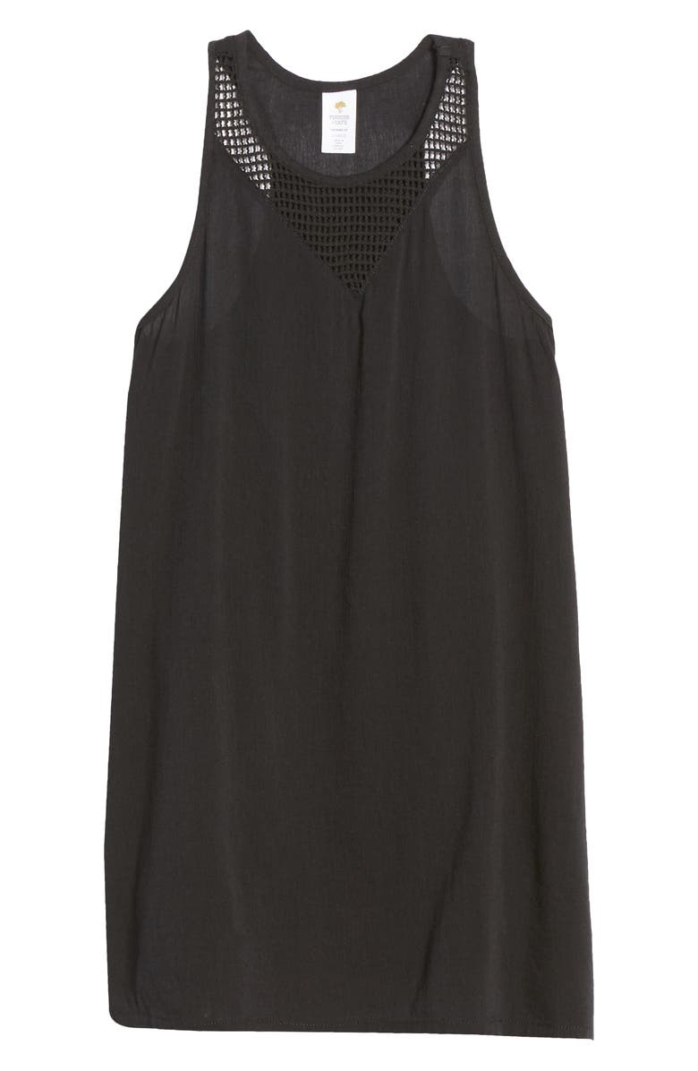 TUCKER + TATE Cover-Up Dress, Main, color, BLACK