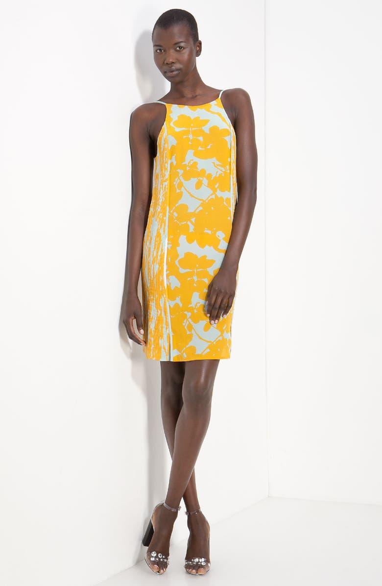 3.1 PHILLIP LIM Print Silk Sundress, Main, color, GOLDENROD