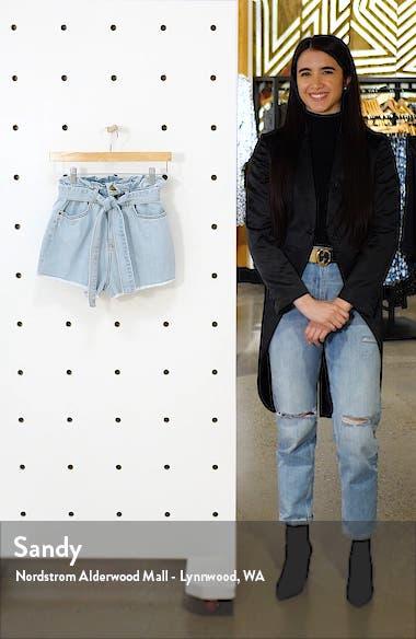 Take a Walk Denim Paperbag Waist Shorts, sales video thumbnail