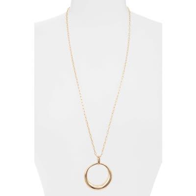 Halogen Long Open Circle Pendant Necklace