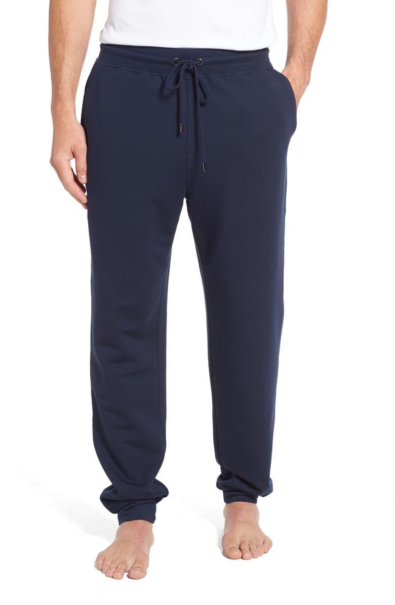DANIEL BUCHLER Modal Blend Lounge Pants, Main, color, NAVY