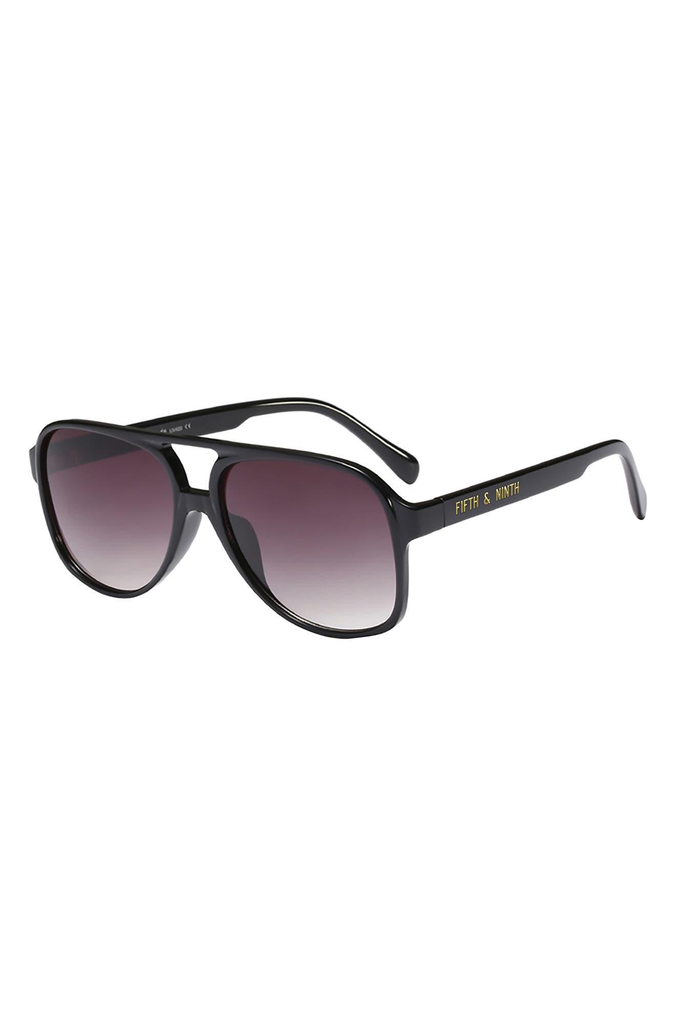 Kingston Aviator 60mm Oval Sunglasses