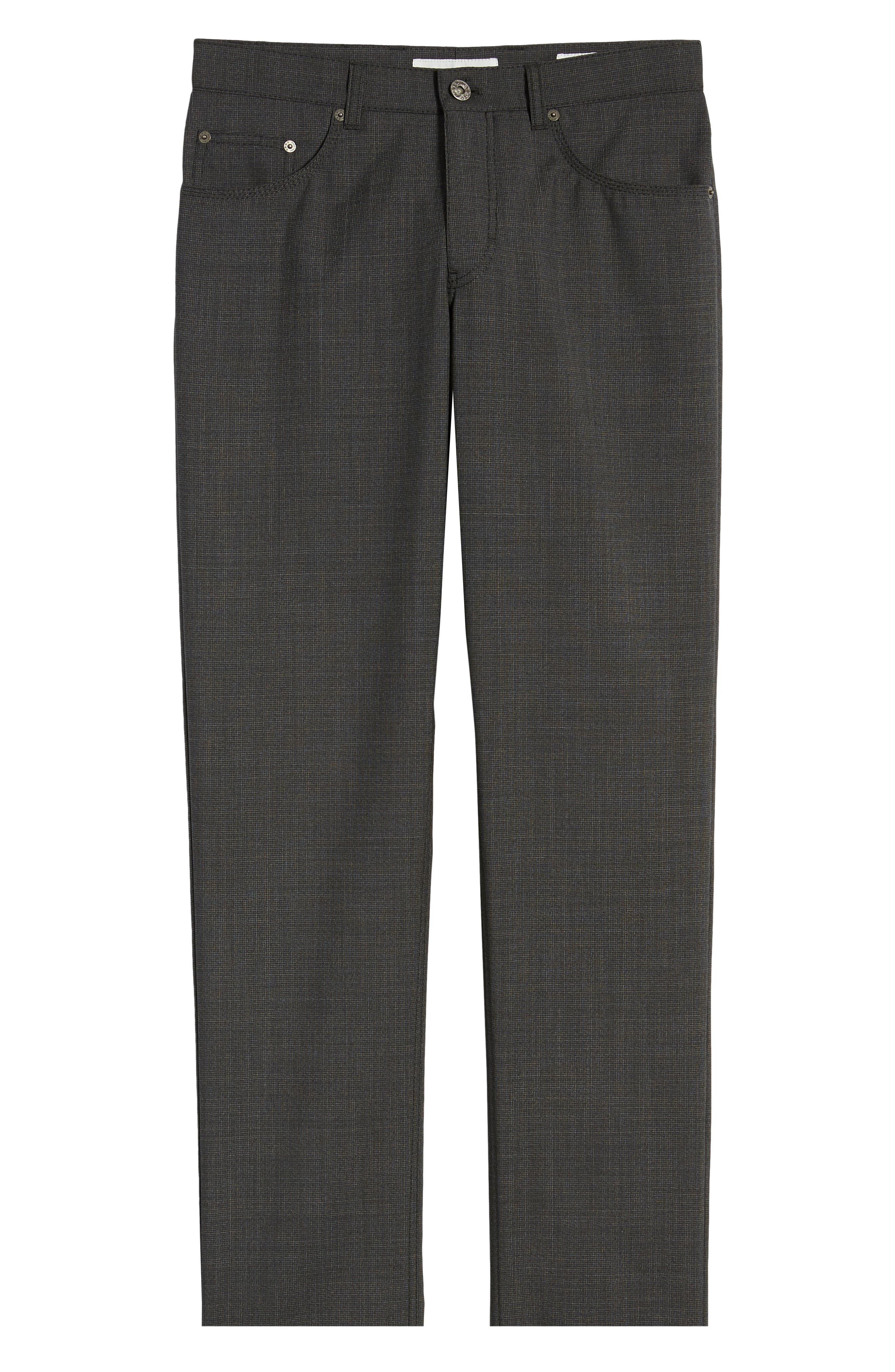,                             Cooper Five Pocket Check Wool Trousers,                             Alternate thumbnail 7, color,                             DARK GREY