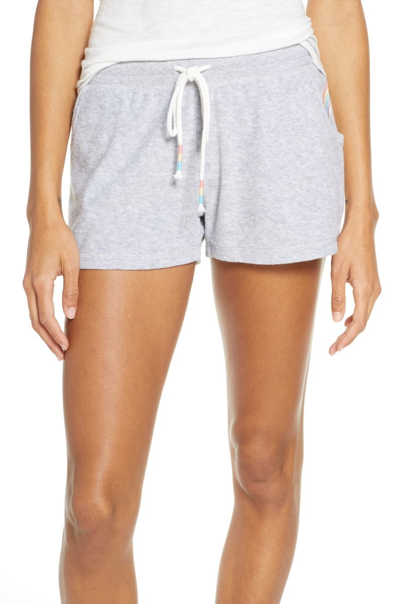 PJ SALVAGE Peached Lounge Shorts, Main, color, HEATHER GREY