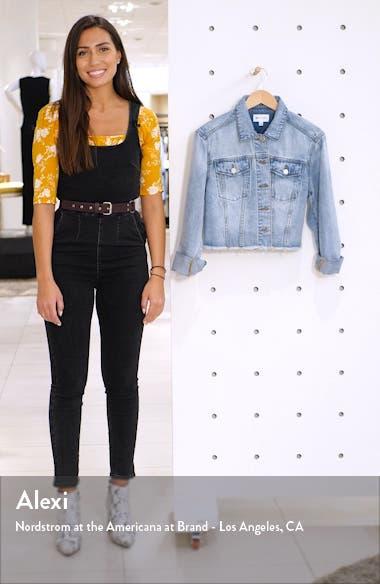 x Claudia Sulewski Crop Denim Jacket, sales video thumbnail