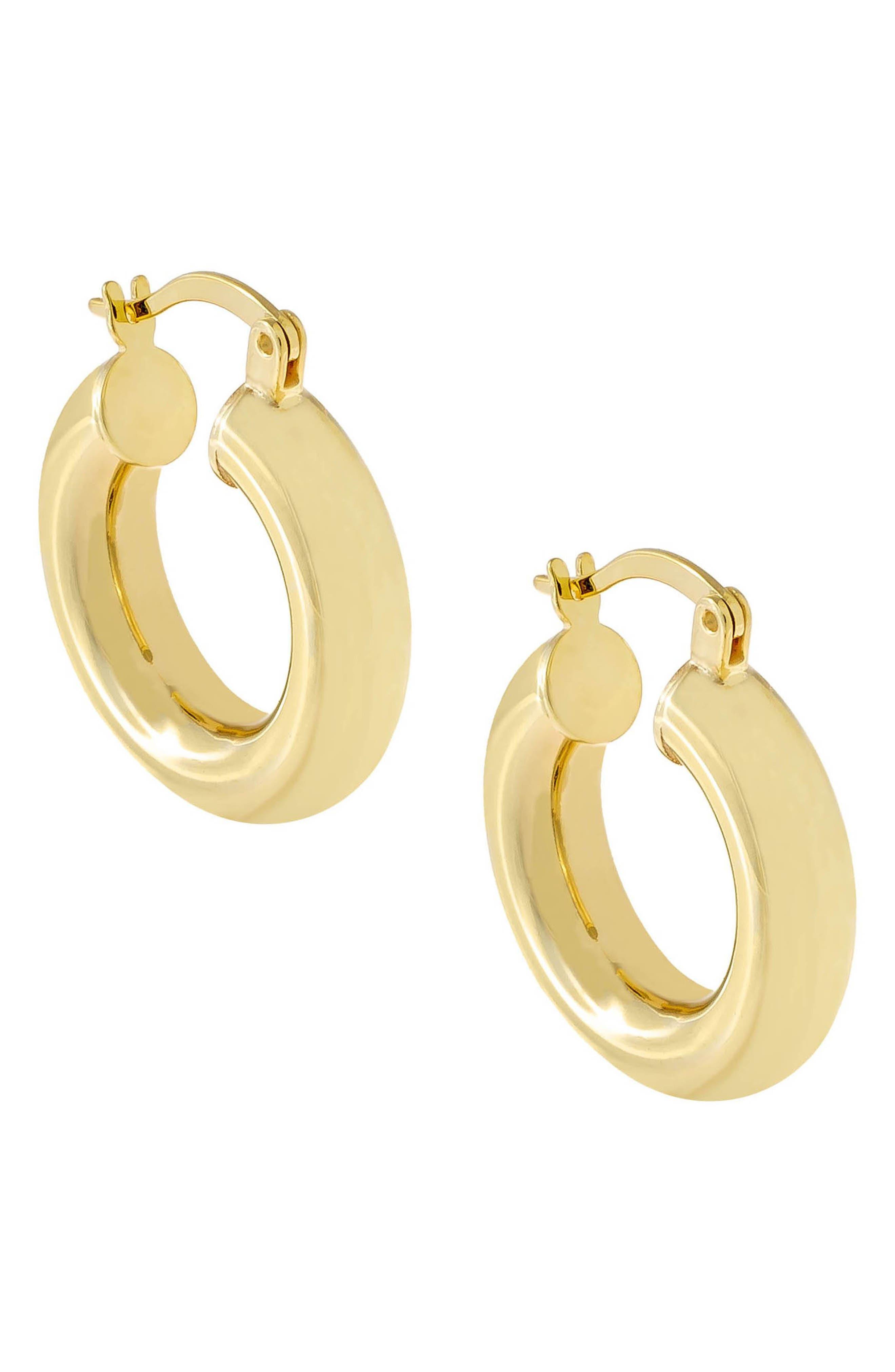 Women's Adina's Jewels Chunky Hollow Hoop Earrings
