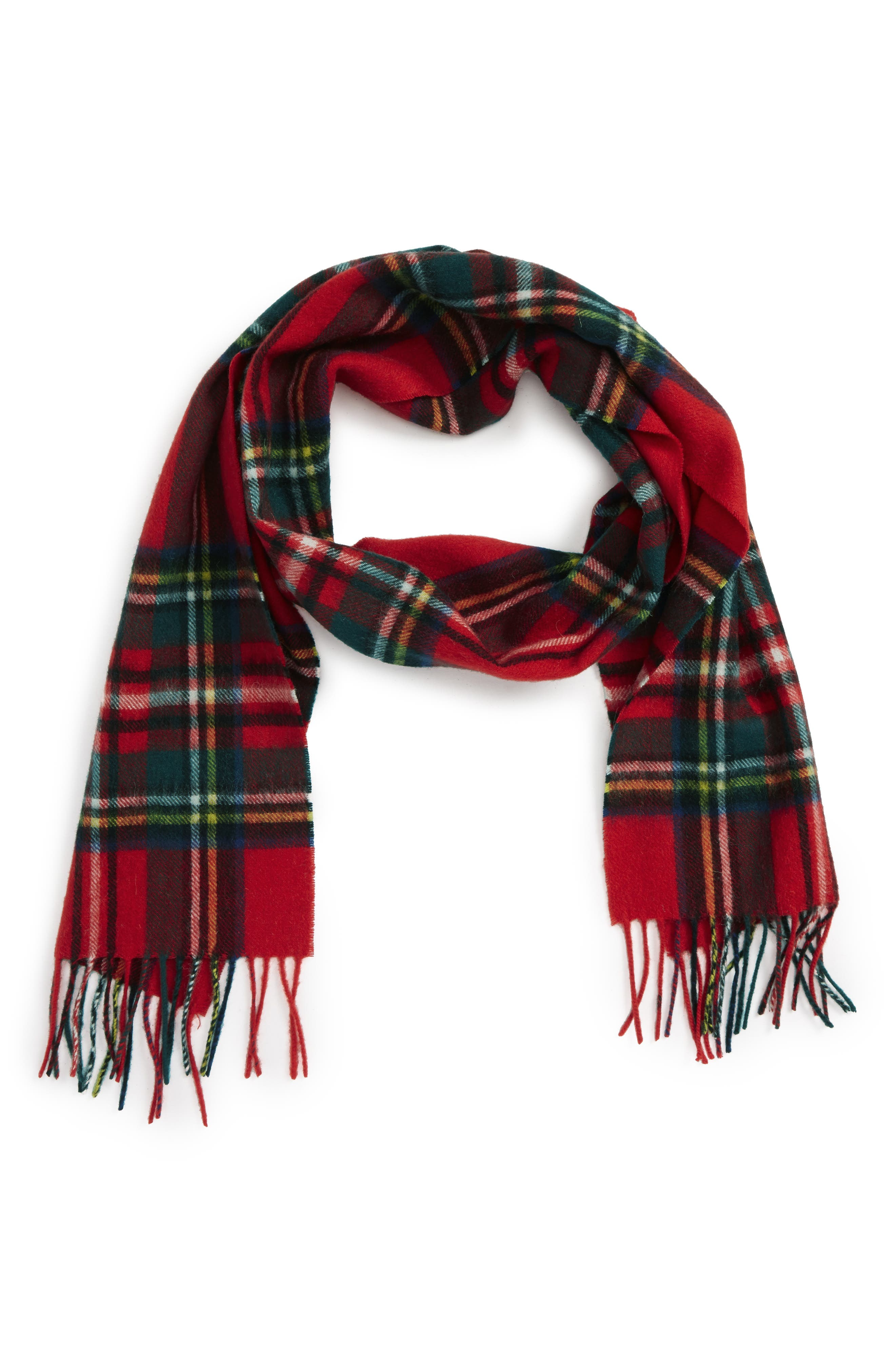 ,                             New Check Lambswool & Cashmere Scarf,                             Main thumbnail 14, color,                             430