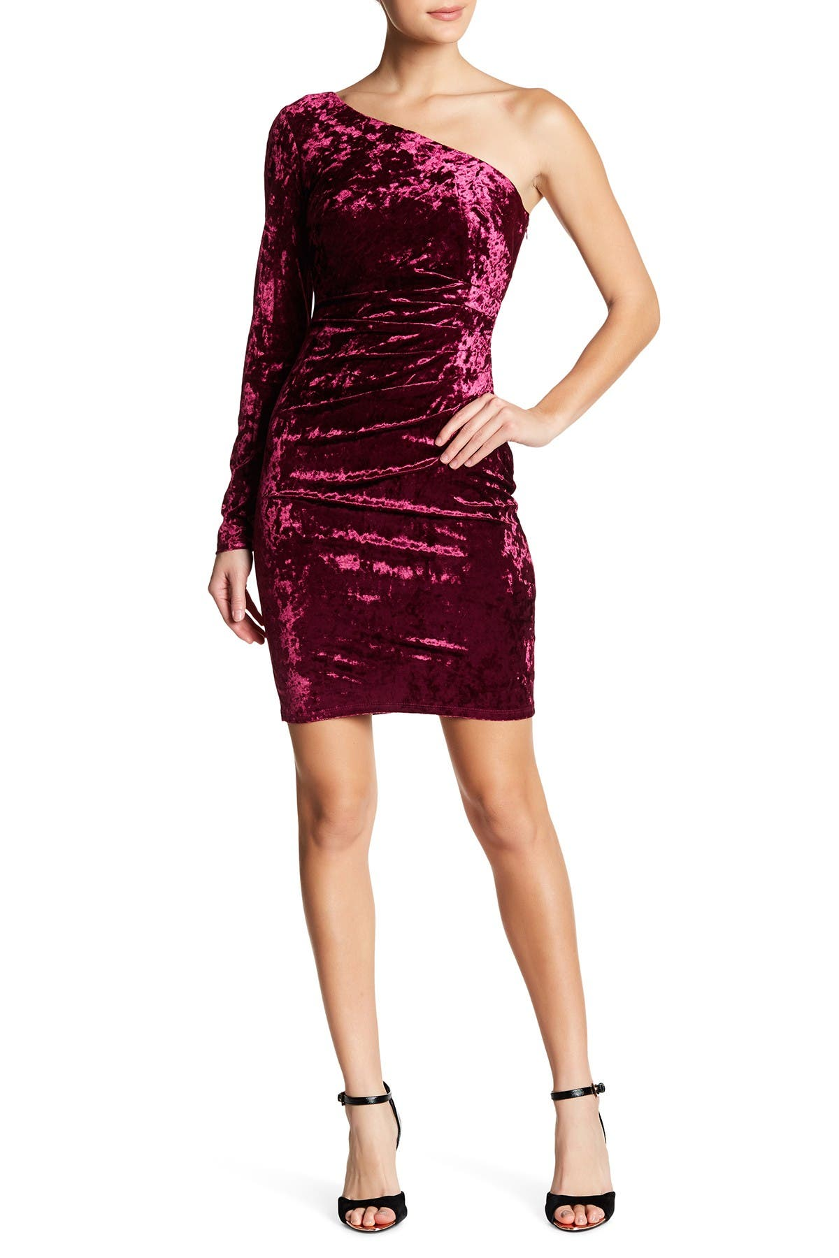 Image of Eliza J One Shoulder Sheath Dress