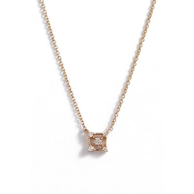 Dana Rebecca Designs Square Diamond Pendant Necklace