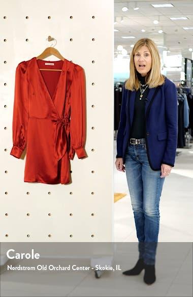 Kenna Silk Long Sleeve Wrap Minidress, sales video thumbnail