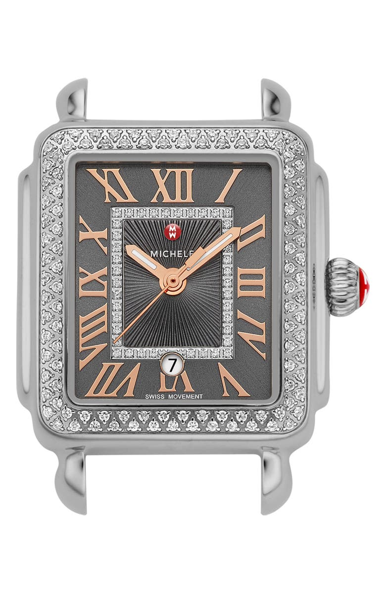 MICHELE Deco Madison Mid Diamond Dial Watch Head, 29mm x 31mm, Main, color, 040