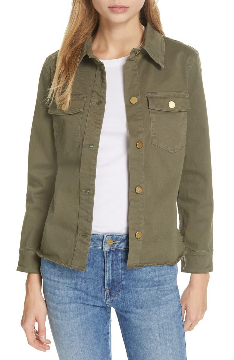 c45ee241 Raw Hem Shirt Jacket