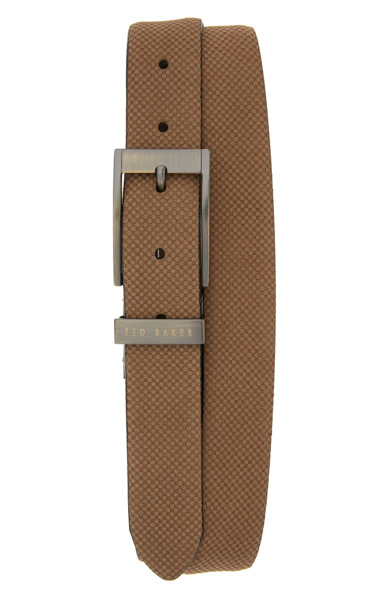 TED BAKER LONDON Suede Belt, Main, color, TAUPE