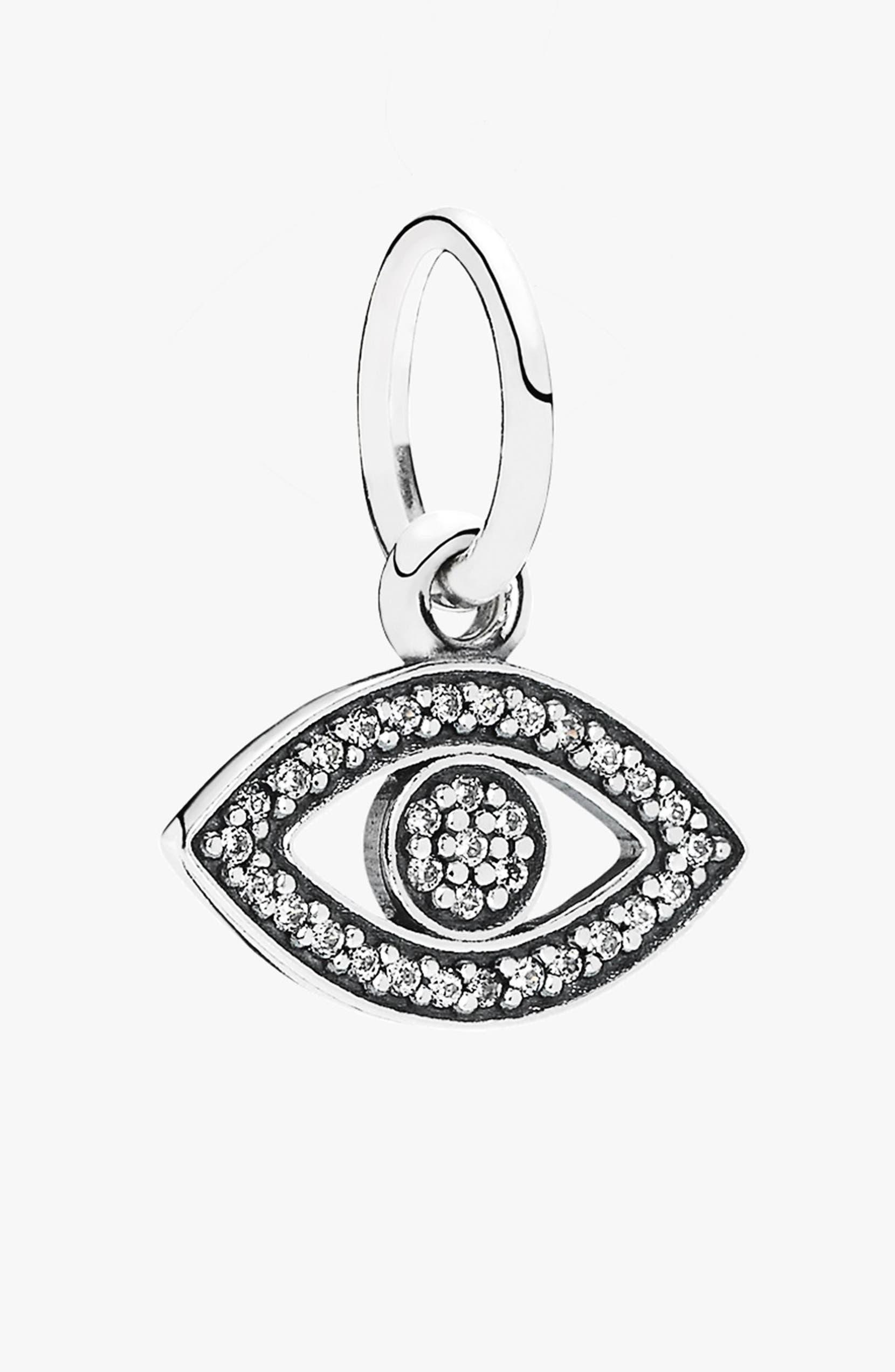 ea8b49152 PANDORA 'Symbol of Insight' Evil Eye Dangle Charm | Nordstrom