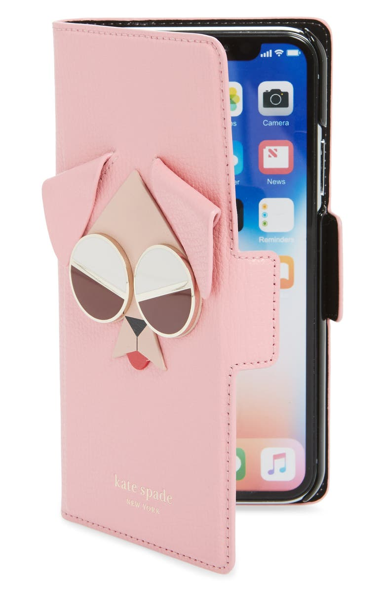 KATE SPADE NEW YORK mod dog iPhone X/Xs/Xs Max & XR Folio, Main, color, 650