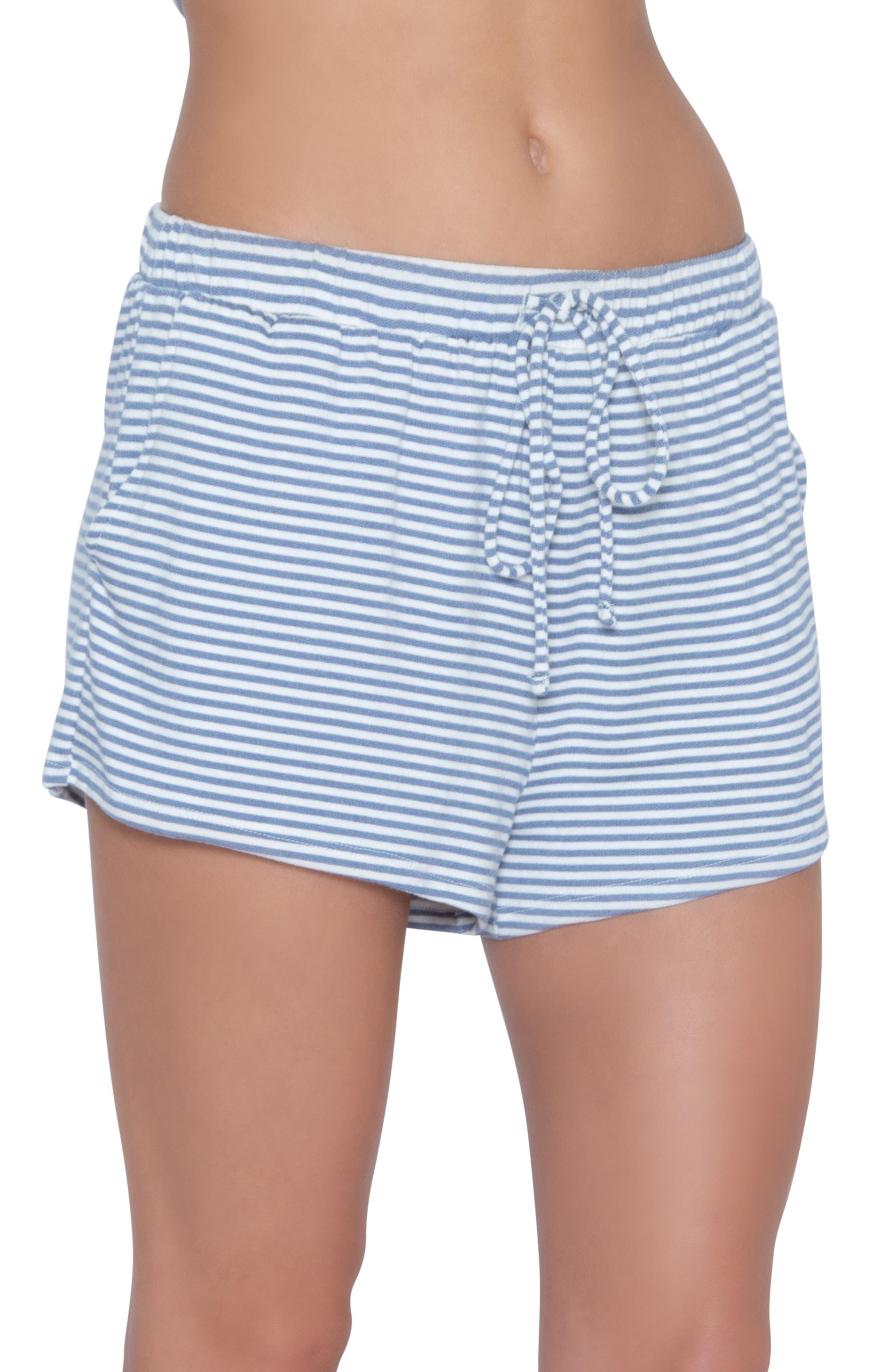 Eberjey Sadie Stripes Pajama Shorts, Blue