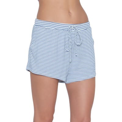 Eberjey Sadie Stripes Pajama Shorts, Blue