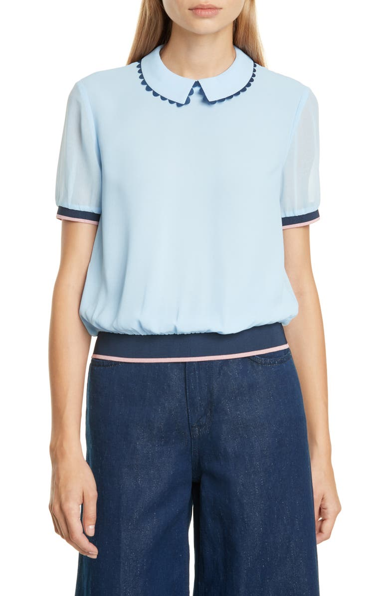 TED BAKER LONDON Colour by Numbers Zahar Top, Main, color, LIGHT BLUE
