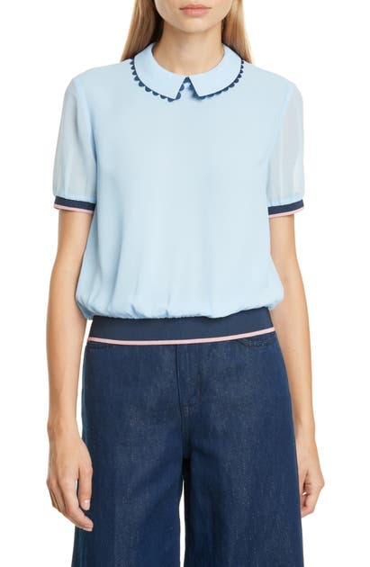 Ted Baker Colour By Numbers Zahar Top In Light Blue