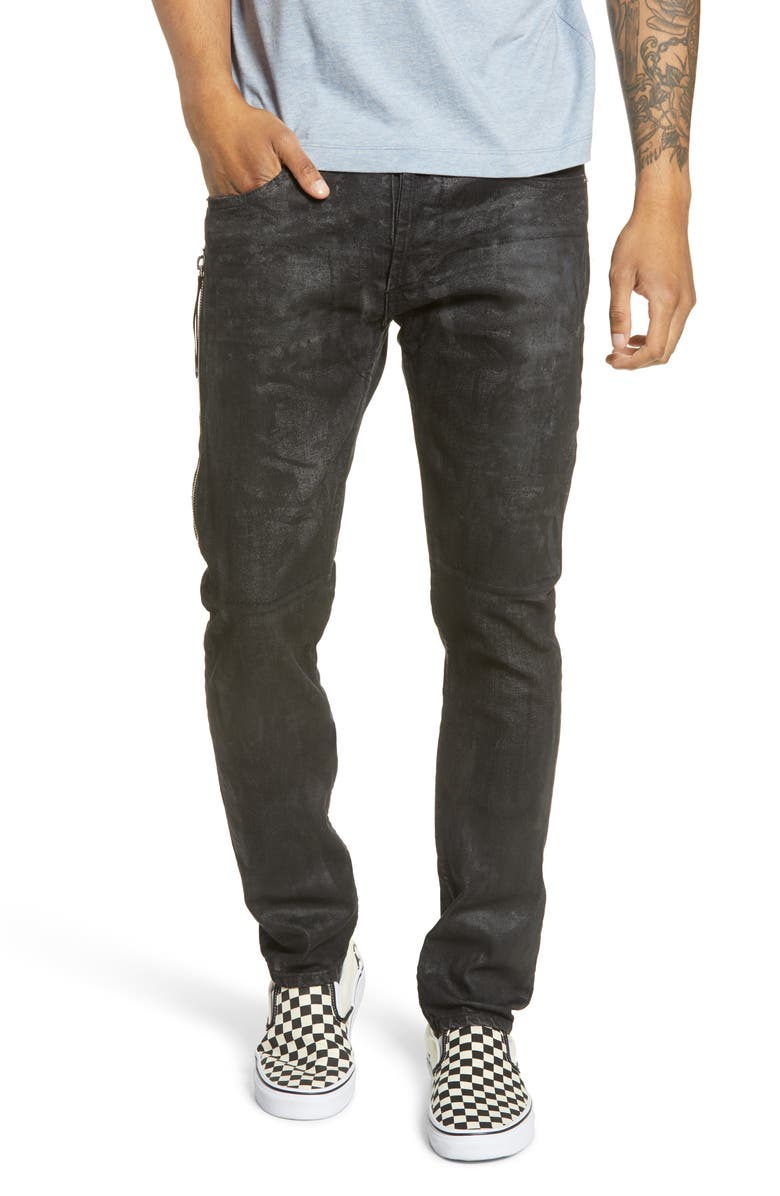 MRCLA Trafford Slim Straight Leg Jeans, Main, color, BLACK WAX