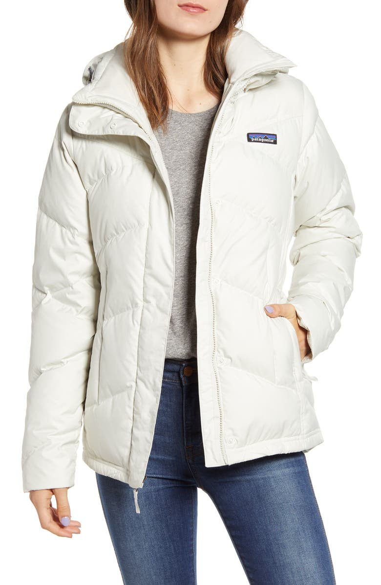 PATAGONIA Down With It Hooded Down Jacket, Main, color, DYNO WHITE