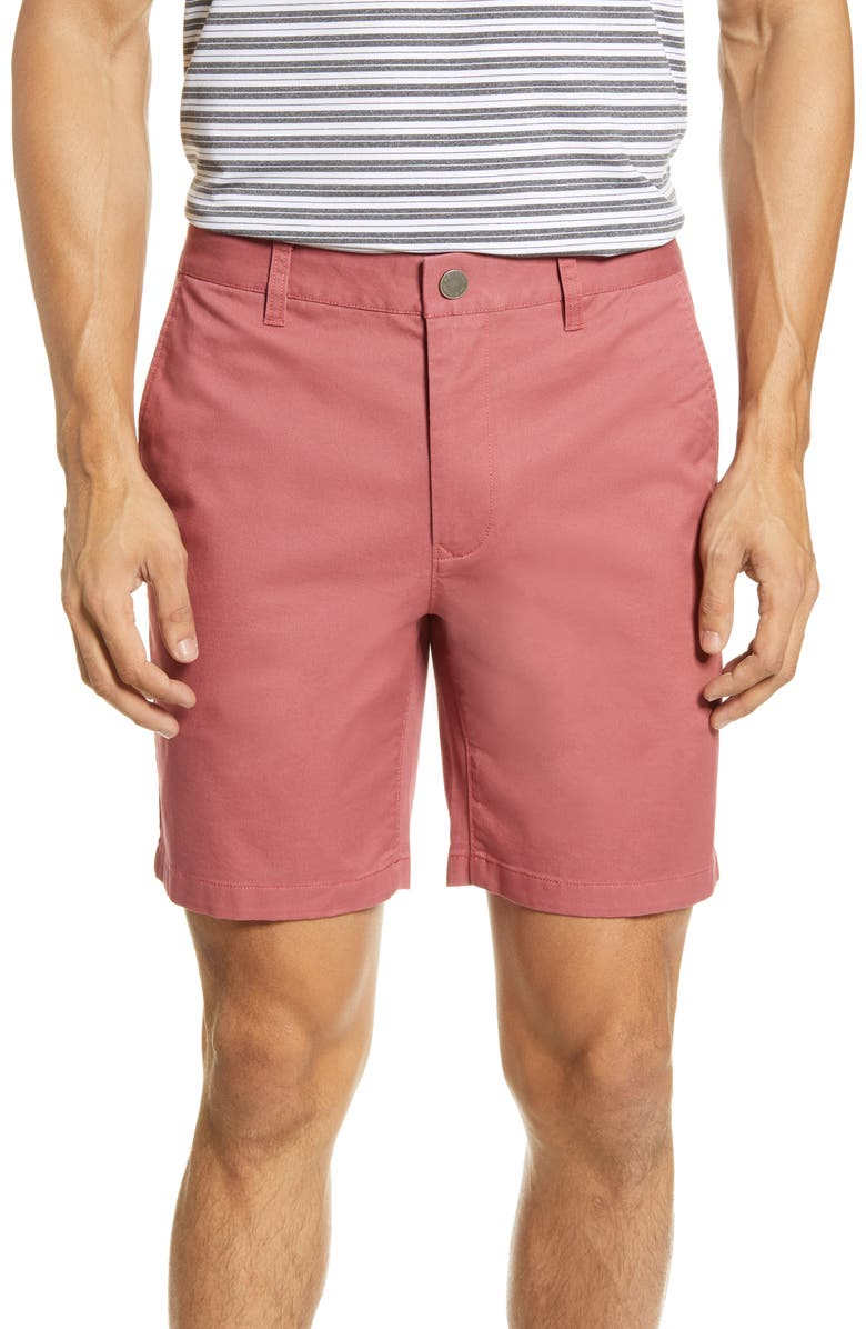 BONOBOS Stretch Washed Chino 7-Inch Shorts, Main, color, SUGAR BERRY