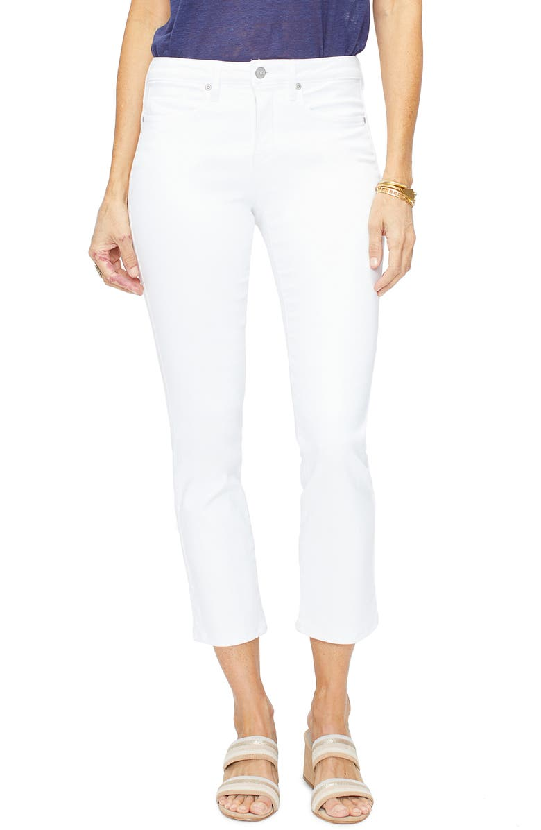 NYDJ Sheri High Waist Stretch Slim Ankle Jeans, Main, color, OPTIC WHITE