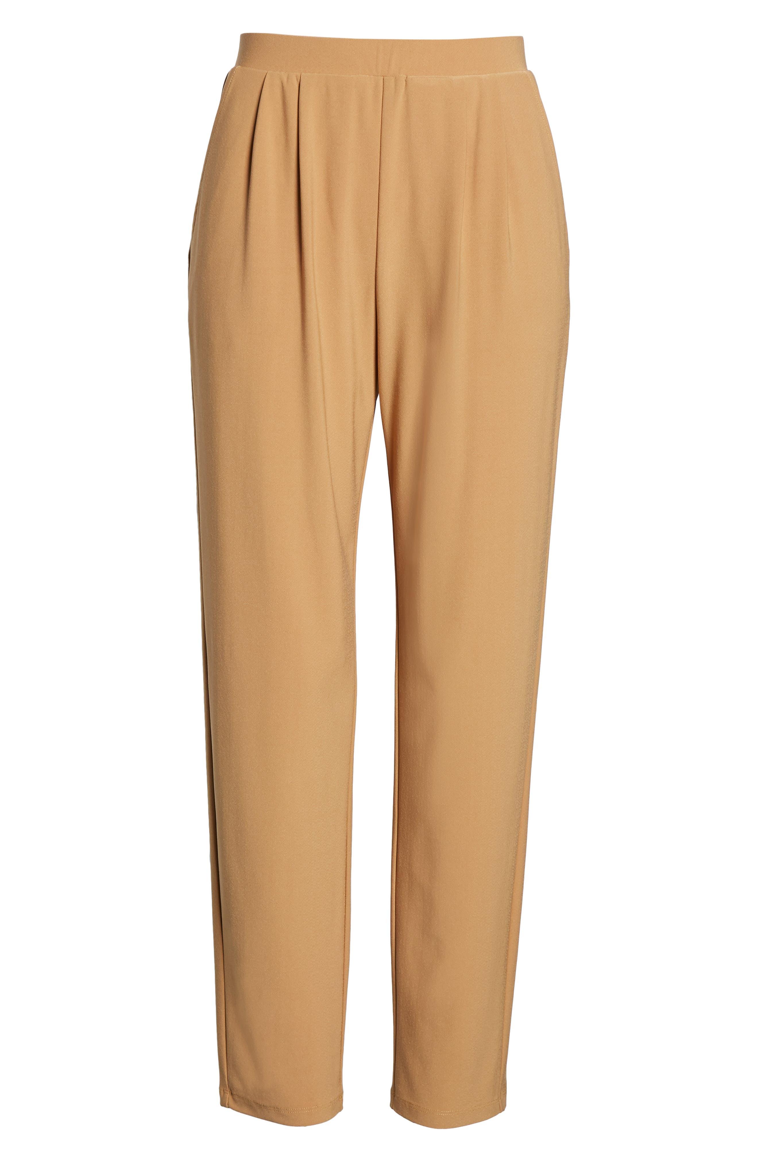 ,                             Pleat Front Trousers,                             Alternate thumbnail 7, color,                             TAN DALE